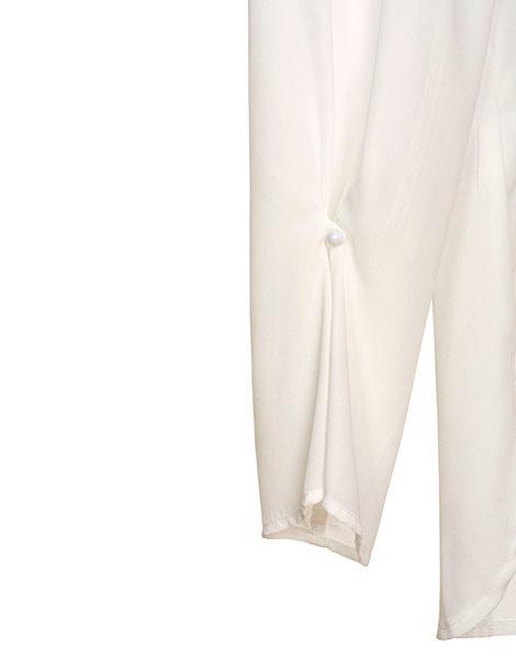 manga perla camisa blanca