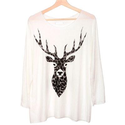 camiseta-tejido-reno-leopardo-blanca