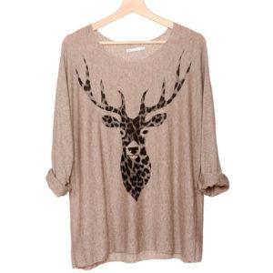 camiseta-tejido-reno-leopardo-marron