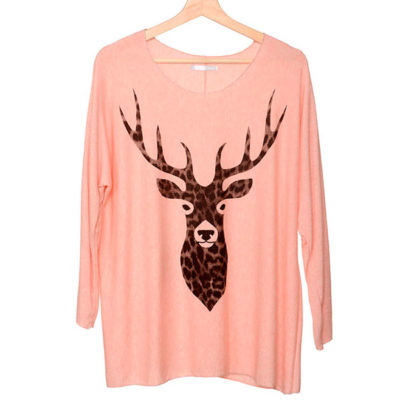 camiseta-tejido-reno-leopardo-rosa