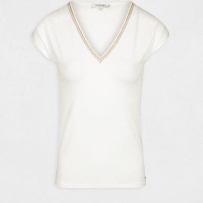 dedo-camiseta-manga-corta-blanca-morgan-2