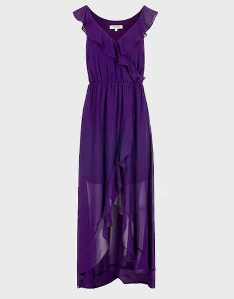 vestido fiesta morado