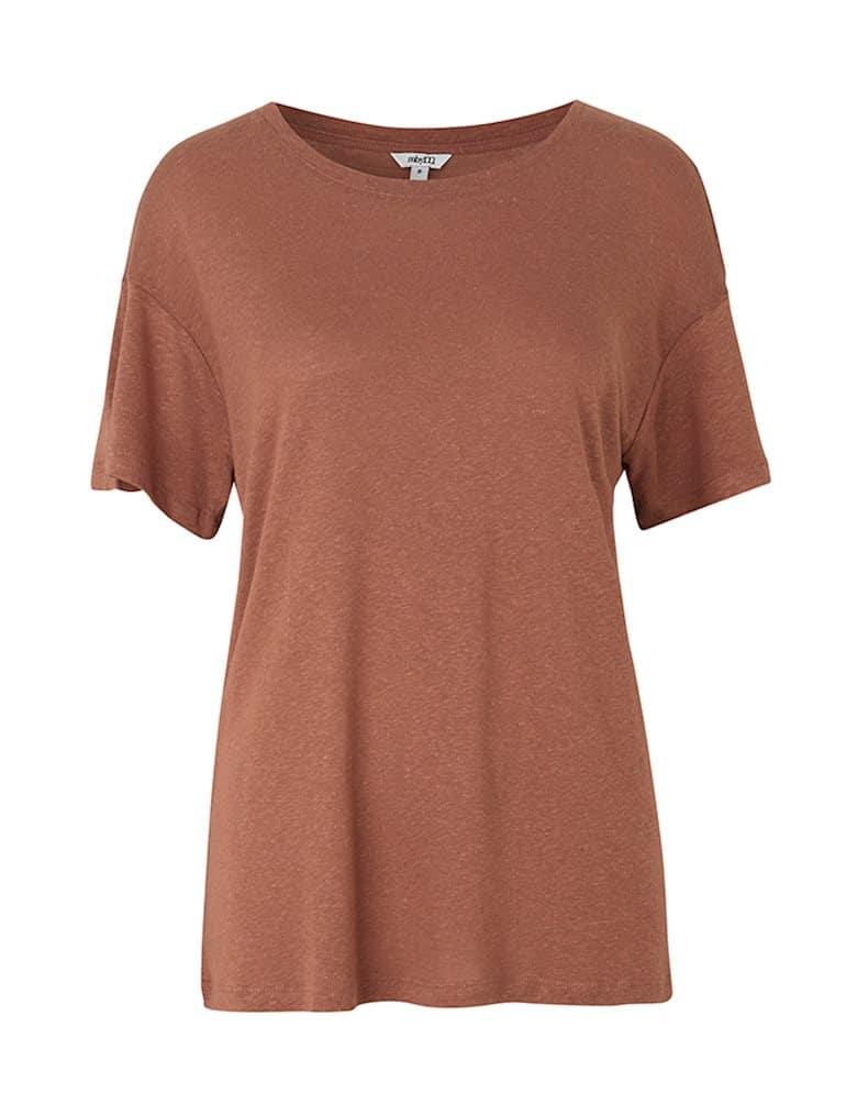 Camiseta marrón holgada manga corta mbyM